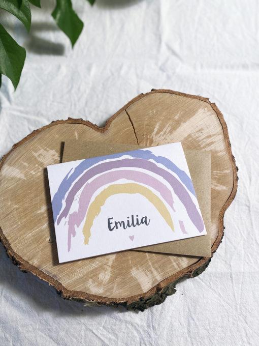Regenbogen Glückwunschkarte